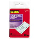3M/COMMERCIAL TAPE DIV. MMMLS851G Self-Sealing Laminating Pouches, 9.5 Mil, 2 7/16 X 3 7/8, Business Card Size, 25