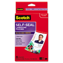 3M/COMMERCIAL TAPE DIV. MMMLS852G Self-Sealing Laminating Pouches W/clip, 12.5 Mil, 2 15/16 X 4 1/16, 25/pack