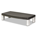 3M/COMMERCIAL TAPE DIV. MMMMS90B Extra-Wide Adjustable Monitor Stand, Silver/black
