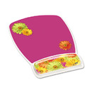 3M/COMMERCIAL TAPE DIV. MMMMW308DS Fun Design Clear Gel Mouse Pad Wrist Rest, 6 4/5 X 8 3/5 X 3/4, Daisy Design