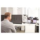 3M MWB100B Monitor Whiteboard, 10 Sheet Capacity, Plastic, Black/White