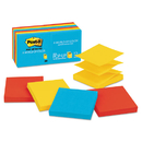 3M/COMMERCIAL TAPE DIV. MMMR33012AU Original Pop-Up Refill, 3 X 3, Assorted Jaipur Colors, 100-Sheet, 12/pack
