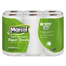 Marcal MRC6181PK 100% Recycled Roll Towels, 5 1/2 X 11, 140/roll, 6 Rolls/pack