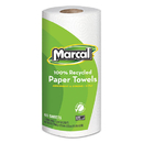 Marcal MRC6709 100% Recycled Roll Towels, 9 X 11, 60 Sheets, 15 Rolls/carton