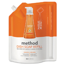 Method MTH01165 Dish Soap Refill, Clementine Scent, 36 Oz Pouch