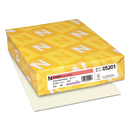NEENAH PAPER NEE05201 Classic Linen Writing Paper, 24lb, 8 1/2 X 11, Natural White, 500 Sheets