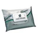 Sani Professional NICA580FW Table Turner Wet Wipes, 7 X 11 1/2, White, 80 Wipes/pack, 12 Packs/carton