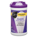 Sani Professional P44584CT PDI Sani-Hands Instant Hand Sanitizing Wipes, 300 Wipes/Canister, 6 Canister/CT