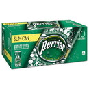 Perrier NLE12188938 Sparkling Natural Mineral Water, 8 Oz Can, 10/pack, 3 Pack/carton