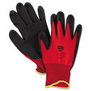 North Safety NF11/8M NorthFlex Red Foamed PVC Palm Coated Gloves, Medium
