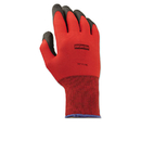 North Safety NSPNF119L Northflex Red Foamed Pvc Gloves, Red/black, Size 9l, 12 Pairs