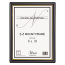 NU-DELL MANUFACTURING NUD11800 Ez Mount Document Frame/accent, Plastic, 8 X 10, Black/gold