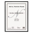 NU-DELL MANUFACTURING NUD31222 Metal Poster Frame, Plastic Face, 18 X 24, Black