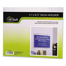 Nudell NUD38008Z Clear Plastic Sign Holder, Wall Mount, 8 1/2 X 11