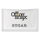 Office Snax OFX00021 Premeasured Single-Serve Sugar Packets, 1200/carton