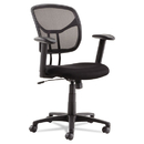 OIF OIFMT4818 Swivel/tilt Mesh Task Chair, Height Adjustable T-Bar Arms, Black/chrome