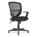 OIF OIFVS4717 Swivel/tilt Mesh Mid-Back Task Chair, Fixed Cantilevered Arms, Black