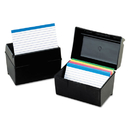 Oxford OXF01461 Plastic Index Card File, 400 Capacity, 6 1/2w X 4 7/8d, Black