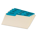 Oxford OXF03513 Laminated Index Card Guides, Monthly, 1/3 Tab, Manila, 3 X 5, 12/set