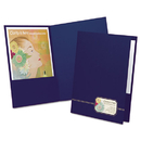 Oxford OXF04162 Monogram Series Business Portfolio, Cover Stock, Blue/gold, 4/pack