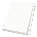 Oxford OXF11315 Custom Label Dividers, Self-Stick Tab Labels, 8-Tab, Letter, White, 5 Sets