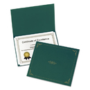 Oxford OXF29900605BGD Certificate Holder, 11 1/4 X 8 3/4, Green, 5/pack