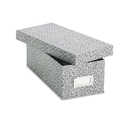 Oxford OXF40588 Reinforced Board Card File, Lift-Off Cover, Holds 1,200 3 X 5 Cards, Black/white