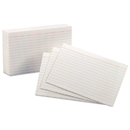Oxford OXF41 Ruled Index Cards, 4 X 6, White, 100/pack