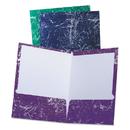Oxford OXF50190 Marble High Gloss Portfolio, Charcoal/green/navy/purple