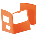 Oxford OXF5062580 Contour Two-Pocket Recycled Paper Folder, 100-Sheet Capacity, Orange