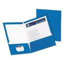 Oxford OXF51701 High Gloss Laminated Paperboard Folder, 100-Sheet Capacity, Blue, 25/box