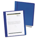Oxford OXF5354023X Extra-Wide Clear Front Report Covers, Letter Size, Dark Blue, 25/box