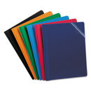Oxford OXF55813 Clear Front Report Cover, 3 Fasteners, Letter, Assorted Colors, 25/box