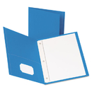Oxford OXF57701 Twin-Pocket Folders With 3 Fasteners, Letter, 1/2