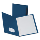Oxford OXF57702 Twin-Pocket Folders With 3 Fasteners, Letter, 1/2