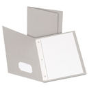 Oxford OXF57705 Twin-Pocket Folders With 3 Fasteners, Letter, 1/2