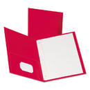 Oxford OXF57711 Twin-Pocket Folders With 3 Fasteners, Letter, 1/2