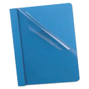 Oxford OXF58801 Premium Paper Clear Front Cover, 3 Fasteners, Letter, Light Blue, 25/box