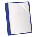 Oxford OXF58802 Premium Paper Clear Front Cover, 3 Fasteners, Letter, Blue, 25/box