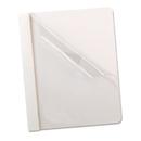 Oxford OXF58804 Premium Paper Clear Front Cover, 3 Fasteners, Letter, White, 25/box