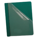 Oxford OXF58817 Premium Paper Clear Front Cover, 3 Fasteners, Letter, Green, 25/box