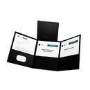 Oxford OXF59806 Tri-Fold Folder W/3 Pockets, Holds 150 Letter-Size Sheets, Black