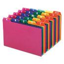 Oxford OXF73154 Card Guides, Alpha, 1/5 Tab, Polypropylene, 4 X 6, 25/set