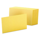 Oxford OXF7420CAN Unruled Index Cards, 4 X 6, Canary, 100/pack