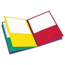 Oxford OXF99656 Elegant Stripe Eight-Pocket Organizer, Embossed Leather Grain, Assorted Colors