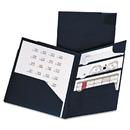 Oxford OXF99801 Divide It Up Four-Pocket Poly Folder, 11 X 8-1/2, Navy