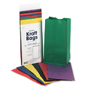 Pacon PAC0072140 Rainbow Bags, 6# Uncoated Kraft Paper, 6 X 3 5/8 X 11, Assorted Bright, 28/pack