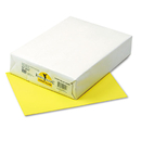 PACON CORPORATION PAC102055 Kaleidoscope Multipurpose Colored Paper, 24lb, 8-1/2 X 11, Lemon Yellow, 500/rm