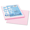 PACON CORPORATION PAC103012 Tru-Ray Construction Paper, 76 Lbs., 9 X 12, Pink, 50 Sheets/pack
