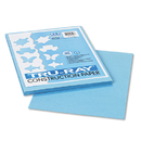 PACON CORPORATION PAC103016 Tru-Ray Construction Paper, 76 Lbs., 9 X 12, Sky Blue, 50 Sheets/pack